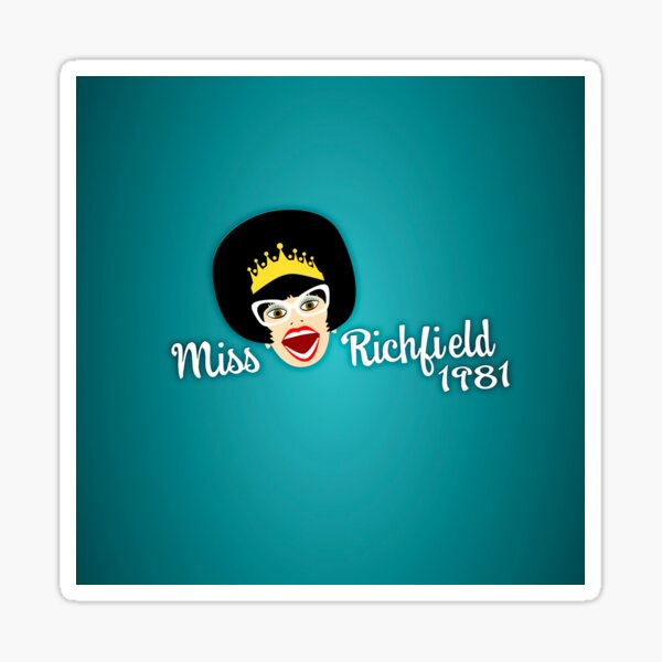 Miss Richfield Full Face - Teal Sticker