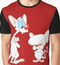 Best Friend Pinky And Brain Graphic T-Shirt
