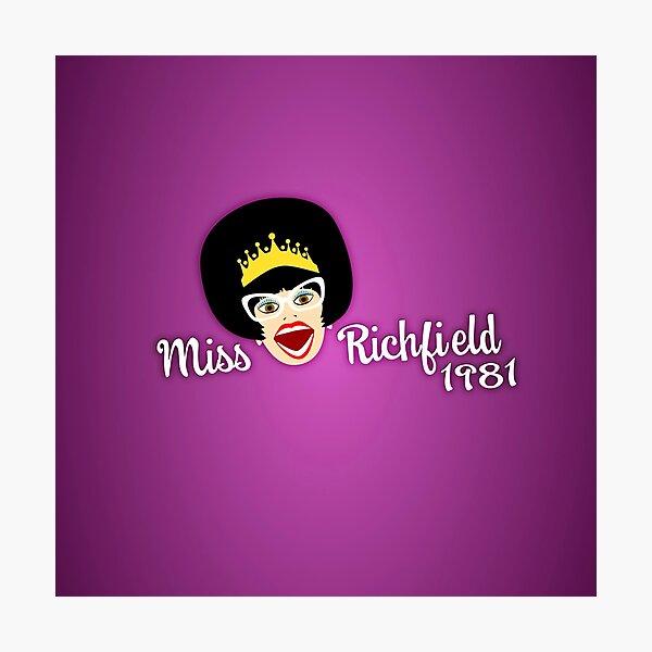 Miss Richfield Full Face - Fuchsia Photographic Print