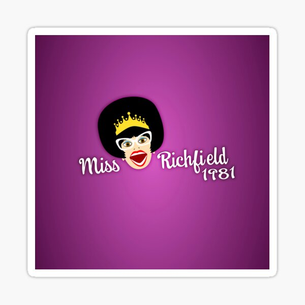 Miss Richfield Full Face - Fuchsia Sticker