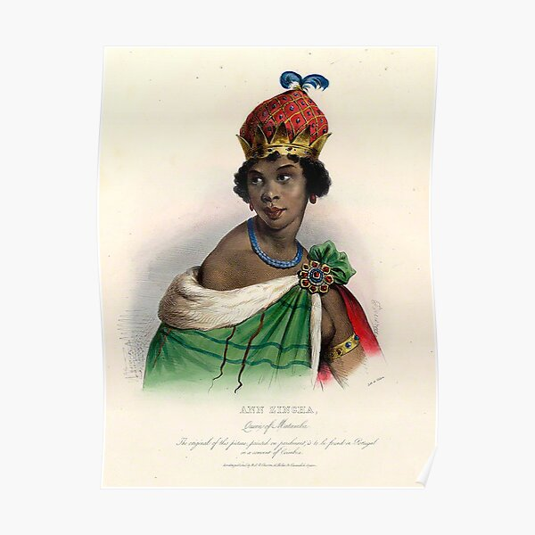 Königin Nzinga - Koloriert Poster