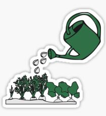 Garden vegetable watering Sticker