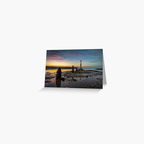 Silver Sands Sunset Bembridge Greeting Card
