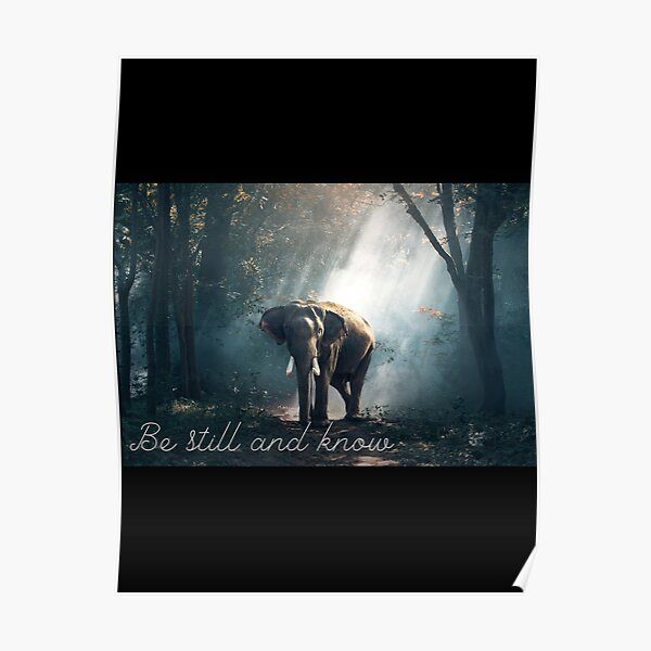 Be Still and Know - Elephant Poster