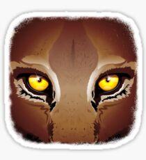 Mountain Lion's Eyes Sticker