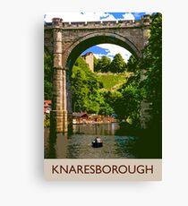 Knaresborough, boating Canvas Print