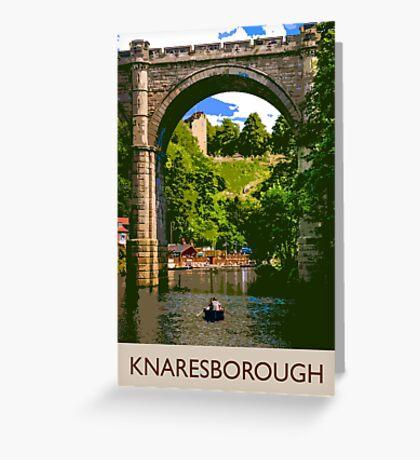 Knaresborough, boating Greeting Card