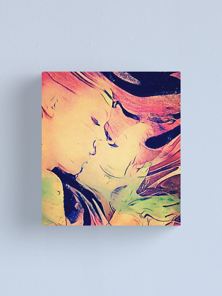 Alternate view of Abstract Kiss Canvas Print