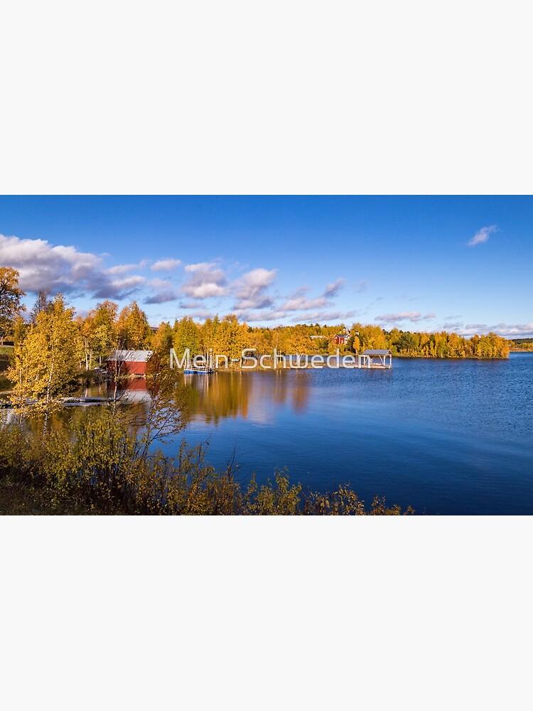 Ein herbstlicher See bei Arjeplog von Mein-Schweden