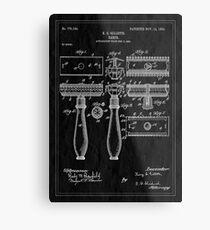 Patent Image - Razor - Inverted Metal Print