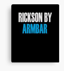 Rickson By Armbar (Brazilian Jiu Jitsu) Canvas Print