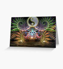 Equilibrio : Fractal YinYang  Greeting Card