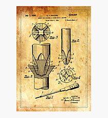 Patent Image - Screwdriver - Ancient Canvas Photographic Print