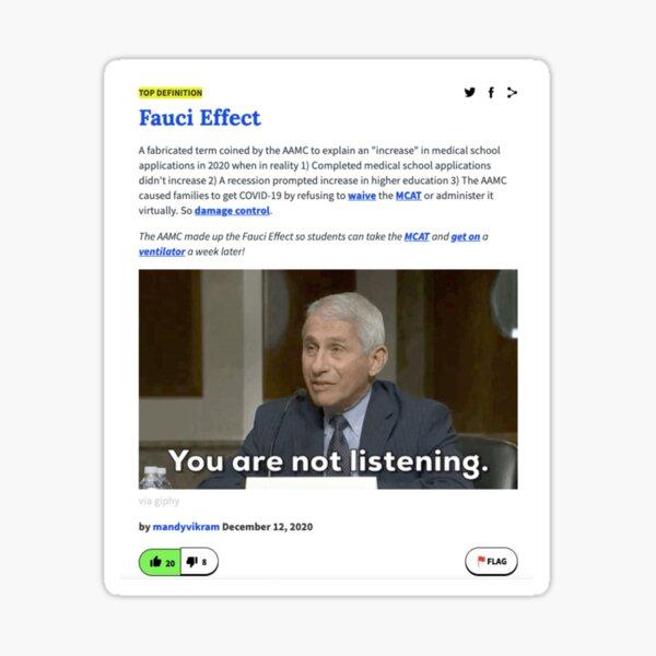 Fauci Effect Urban Dictionary Sticker