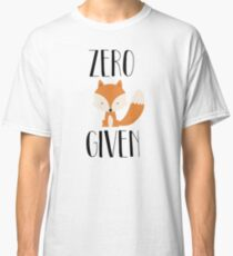 "Zero ""Fox"" dado Camiseta clásica"