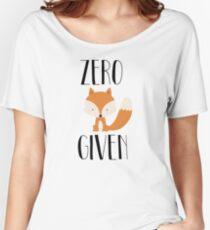 "Zero ""Fox"" dado Camiseta ancha"