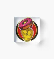 Donuts Hand Acrylic Block