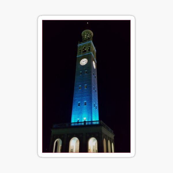 UNC-Chapel Hill Bell Tower at night Sticker