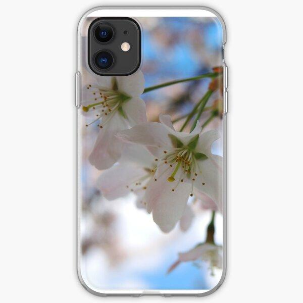 Cherry Blossom and Blue Sky iPhone Soft Case