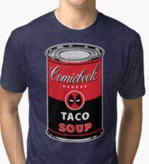 Comicbook Taco Soup Tri-blend T-Shirt