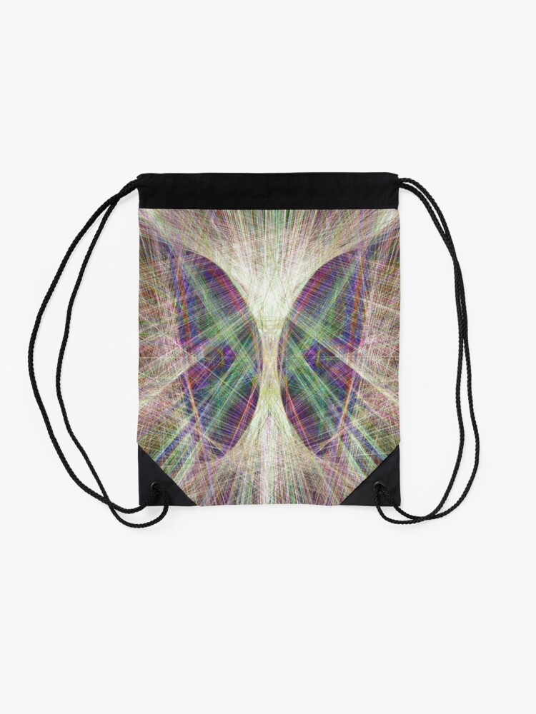 Alternate view of Linify Light butterfly Drawstring Bag