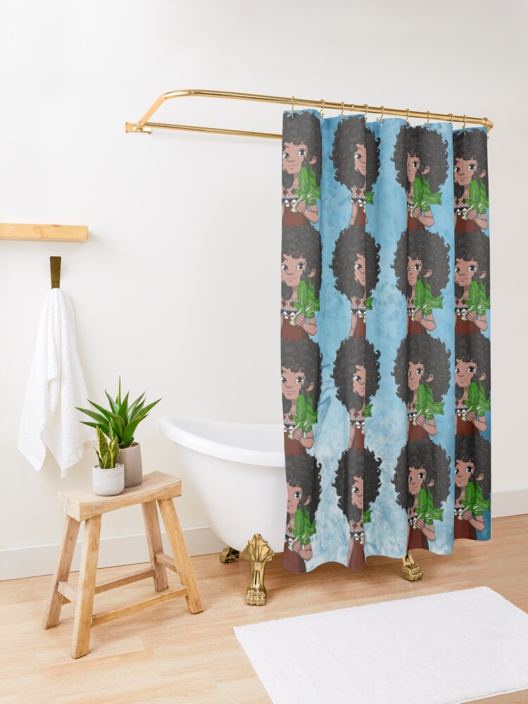 Alternate view of WORLD We Live In REPUBLIC OF FIJI with Dee Shower Curtain