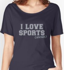 I Love Sports (Anime) Women's Relaxed Fit T-Shirt