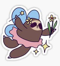 Dancing Fairy Sloth Sticker