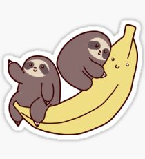 Sloths and Giant Banana Sticker