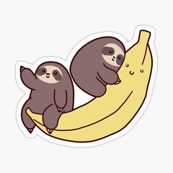 Sloths and Giant Banana Sticker
