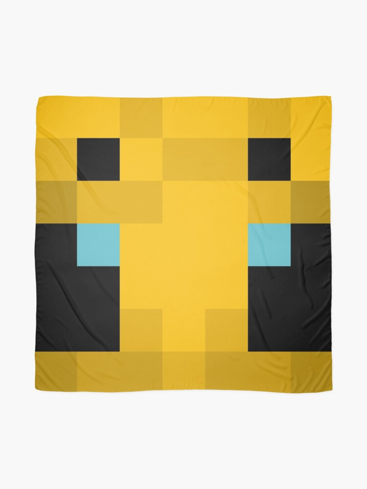Minecraft yellow bee mob Scarf by MinecraftArt Redbubble