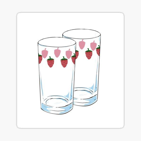 Verres aux fraises NANA Sticker