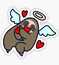 Sloth Valentine Angel Sticker