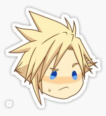 Cloud Strife Chibi - Confused Sticker