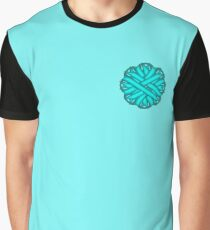 Light Blue / Tea Flower Ribbon Graphic T-Shirt