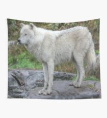 Arctic Wolf HDR Wall Tapestry