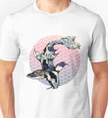 Die große Welle vor Koi Unisex T-Shirt