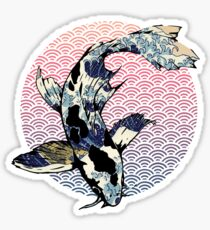 The Great Wave off Koi Sticker