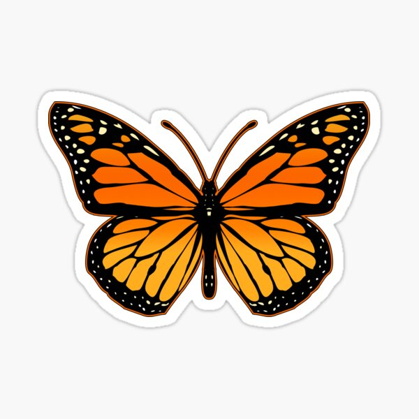 Papillon monarque Sticker