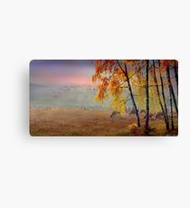 Foggy Country Morning Canvas Print