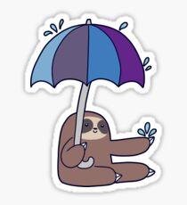 Sloth Rain Umbrella Sticker