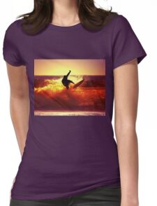 Catching Waves surf Womens Fitted T-Shirt