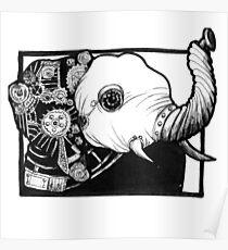 Steampunk Elephant Poster