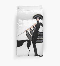 Art Deco era Haute Couture Fashion illustration Duvet Cover