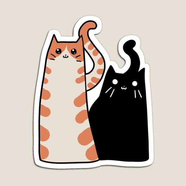 uno es un gato atigrado naranja Imán