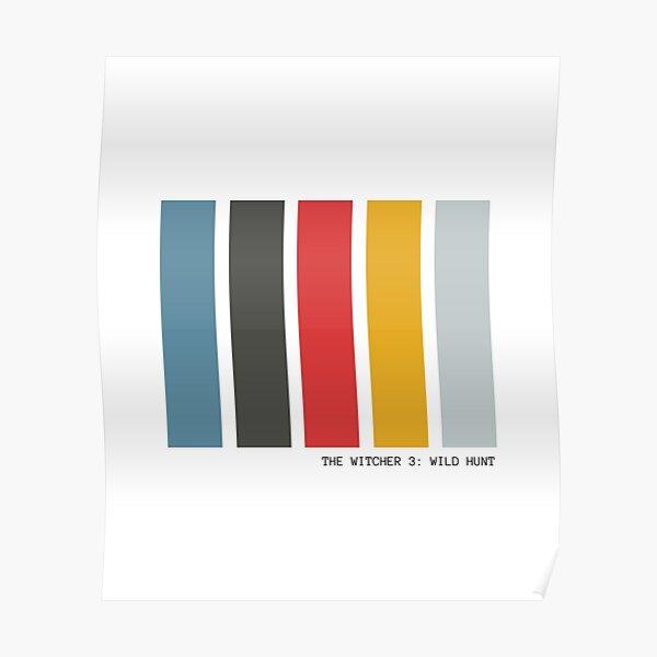 Palette de couleurs minimaliste The Witcher 3 Poster