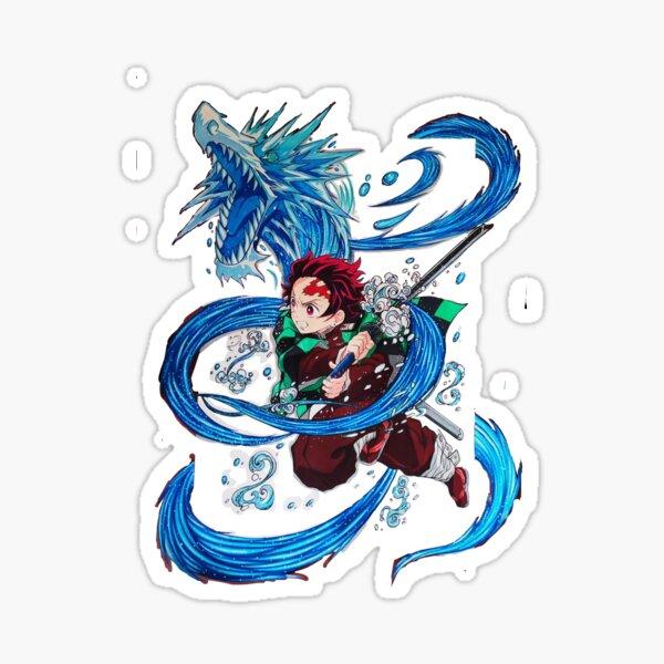 Danza acuática Tanjiro Kamado (asesino de demonios) Pegatina