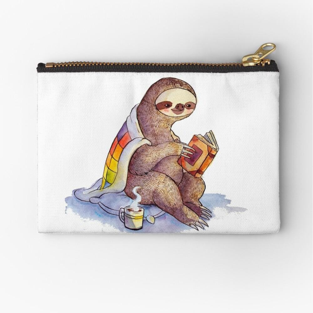 Cozy Sloth Zipper Pouch