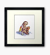Cozy Sloth Framed Print