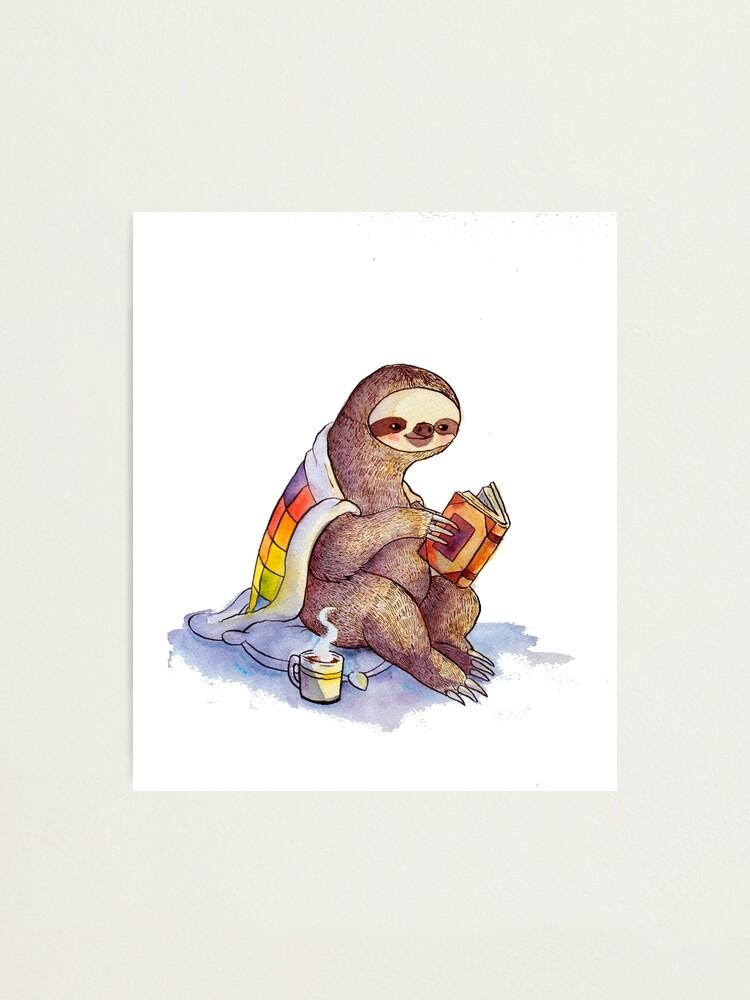 Alternate view of Cozy Sloth Photographic Print